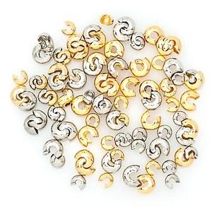 Kaschierperlen-Set, gold-silber, 100 Stück