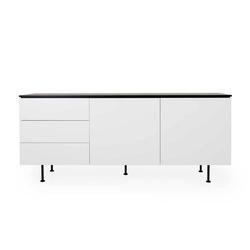Modernes Sideboard in Weiß und Schwarz 180 cm breit