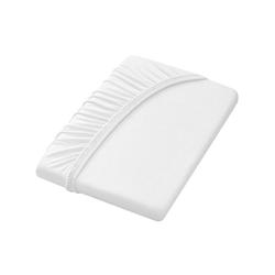 Dormisette Spannbettlaken weiß 90-100 cm x 190-200 cm
