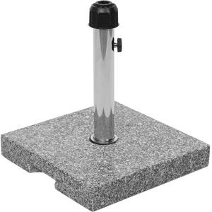 Mendler Sonnenschirmständer HWC-F92, Schirmständer Schirmhalter, Granit - 23kg eckig grau