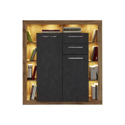ebuy24 Sideboard Rominia Sideboard 2 Türen, 2 Schubladen und 8 Abla braun