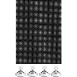 Sonnenschutz Flexibler Sonnenschutz mit Saugnäpfe, GARDINIA, transparent, Blend- und Hitzeschutz 150 cm x 100 cm