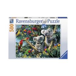 Ravensburger Puzzle Puzzle 500 Teile, 49x36 cm, Koalas im Baum, Puzzleteile