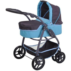 Knorrtoys® Puppenwagen Coco - tec blue, 2-in-1