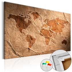 Tablica korkowa Papierowa mapa
