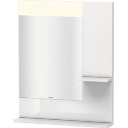 Duravit Spiegel VERO 142 x 650 x 800 mm, Beleuchtung graphit matt