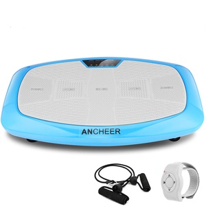 ANCHEER Vibrationsplatte Ganzkörper Trainingsgerät, 3D Vibrationsgerät mit Großer Rutschsicherer Trainingsfläche + Innovativer Vibration + LCD Display + Fernbedienung + Trainingsbänder, max.150kg