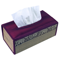 Guru-Shop Aufbewahrungsdose Kosmetiktücher Servietten Box aus Rattan in.. braun