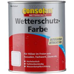 CONSOLAN Wetterschutzfarbe Profi Holzschutz, rot, 0,75 Liter
