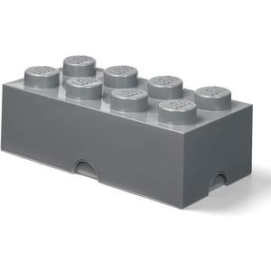 LEGO Room Copenhagen Aufbewahrungsstein, 8 Noppen, Stapelbare Aufbewahrungsbox, 12 l, Dunkelgrau, Grau, one Size, 40041754