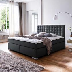Amerikanisches Bett in Schwarz Matratze