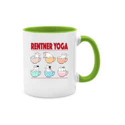 Shirtracer Tasse Rentner Yoga Katzen in Tassen - Tasse Berufe - Tasse zweifarbig - Tassen, tassen katzen