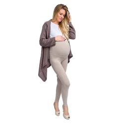 Welt der Träume Leggings Umstandsleggings mit Hoher Bund, Damen Leggings, Schwangerschaftshosen, Schwangerschaftsmode natur S
