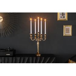 riess-ambiente Kerzenständer KERZENSTÄNDER 40cm gold (1 Stück), Metall · Kerzenhalter · Deko · Barock-Design goldfarben