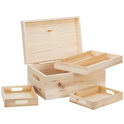 Holz-Sortierbox, 32 x 22 x 15,5 cm