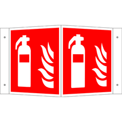Brandschutzschild Feuerlöscher Aluminium (B x H) 200mm x 200mm ISO 7010 1St.