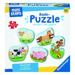 Ravensburger Puzzle ministeps Bauernhof Badewanne, Puzzleteile