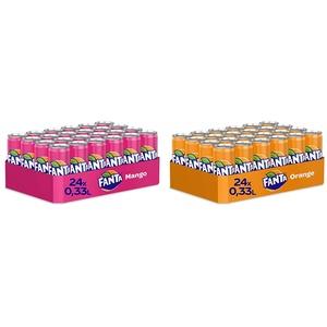 Fanta Mango & Dragonfruit, 24er Pack, EINWEG (24 x 330 ml) & Orange EINWEG Dose, (24 x 330 ml)