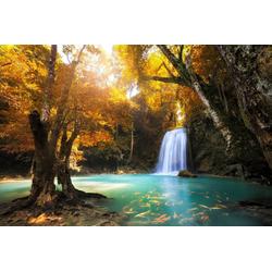 Fototapete Waterfall in Kanchanaburi, Thailand, glatt 3,50 m x 2,60 m