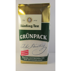Bünting Tee, Grünpack, 500 g Schwarzer Tee