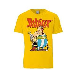 LOGOSHIRT T-Shirt mit Asterix & Obelix-Print Asterix & Obelix gelb 5XL