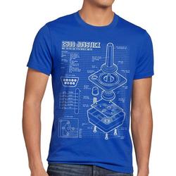 style3 Print-Shirt Herren T-Shirt 2600 VCS Computer 80er joystick classic gamer retro 2800 5200 c64 blau S