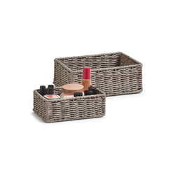 HTI-Living Aufbewahrungsbox Aufbewahrungskörbchen-Set, 2-teilig Papiergeflecht (2 Stück), Aufbewahrungskorb grau
