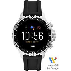 Fossil Smartwatches Garrett HR Smartwatch, FTW4041 Smartwatch (1.28 Zoll, Wear OS by Google, mit individuell einstellbarem Zifferblatt)