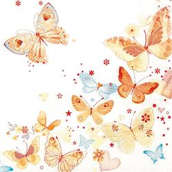 VBS Papierserviette Schöne Schmetterlinge, (5 St), 33 cm x 33 cm