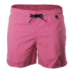 Hom Badeshorts Herren Badeshorts, Beach Boxer - Swim Shorts, rot L