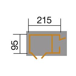 WEKA, Gerätehaus, BxHxT: 215 x 152 x 95 cm, anthrazit/weiß grau