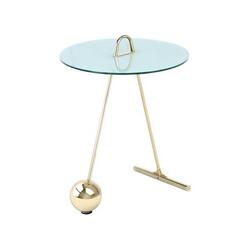 Beistelltisch Pendulum 525 Gold / Weiß