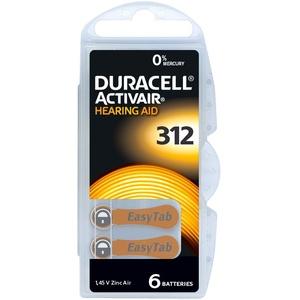 DURACELL 30 x Hörgerätebatterien Duracell Activair 312 Braun