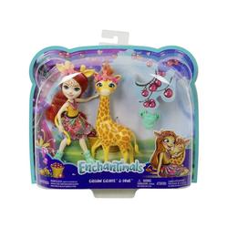 Mattel® Anziehpuppe Mattel FKY74 - Enchantimals - Puppe mit Giraffe, Gillian