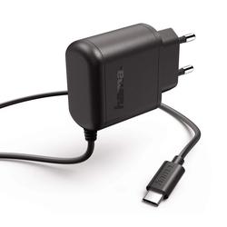 Hama Hama Schnell-Ladegerät USB-C 3A 15W Stecker-Netzteil Netz-Lader Lade-Adapter für Steckdose Schwarz USB-Ladegerät (3000 mA, 1-tlg., Schnellladegerät)