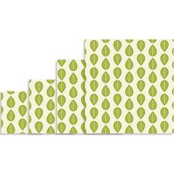 Vegan Pflanzenwachstücher 4er-Set; 16x16, 18x20, 25x28, 33x35,5 cm