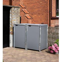 HIDE Mülltonnenbox für 2x 240 l,grau,