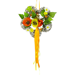 Kunstkranz Holzblume, I.GE.A., Höhe 24 cm