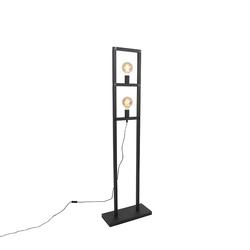 Industrie Stehlampe 2 Lampen schwarz - Simple Cage 2