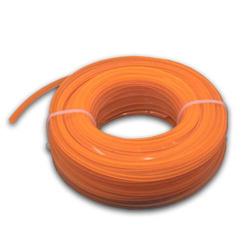 vhbw Mähfaden Trimmerfaden mit 2,4mm Durchmesser für Rasentrimmer Motorsense - 15 Meter, 4-eckig, Orange, Nylon - Rasentrimmerfaden Ersatzfaden