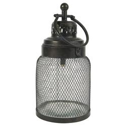 Ib Laursen Kerzenhalter LED Laterne Windlicht Gartenlaterne H 33cm Metall Glas Ib Laursen 3456-25