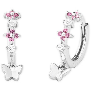 Prinzessin Lillifee 2027893 Silber Kinder-Ohrringe Creolen Schmetterling