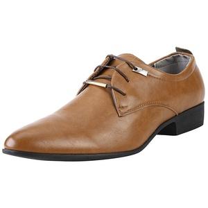 Klassisch Herren Business Derby Schuhe, Moderner Schlichter Herrenschuh Business-Halbschuh aus Leder mit Gummisohle,Hochzeit Anzugschuhe Oxford Schuhe, Lederschuhe Derby Business Casual Lackleder