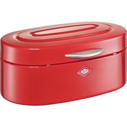Wesco Single Elly Brotkasten, Brotbox für die Aufbewahrung von Brot, Brötchen, Gebäck oder Kuchen, Farbe: rot