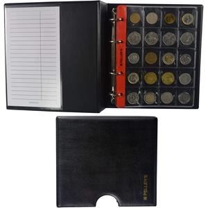 PELLER'S Sammelalbum für 206 verschieden große Münzen: 10 Münzhüllen, Für Münzen bis zu Ø 23mm, Ø 31mm, Ø 40mm. Münzalbum M. (Modell M + Schuber)
