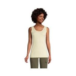 Top, Damen, Größe: 48-50 Normal, Gelb, Baumwolle, by Lands' End, Pastellgelb - 48-50 - Pastellgelb