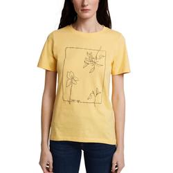 Esprit American-Shirt mit ästhetischem Print gelb XL