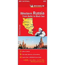Michelin Karte Westliches Russland / Western Russia / Russie Quest - Buch