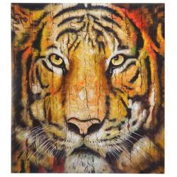 Ölgemälde Tiger, 100% handgemaltes Wandbild Gemälde XL, 100x90cm