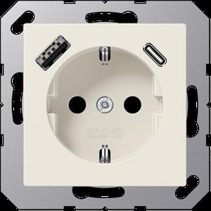 Jung A1520-15CA m.USB Typ AC Steckdose SCHUKO